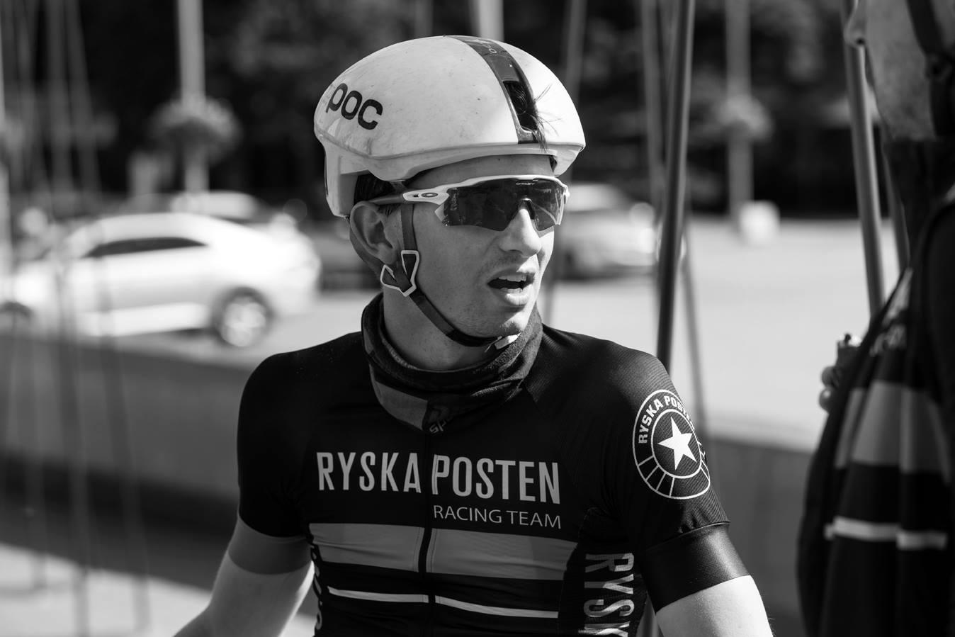 Sindre etter sin 8.plass på etappe 2.